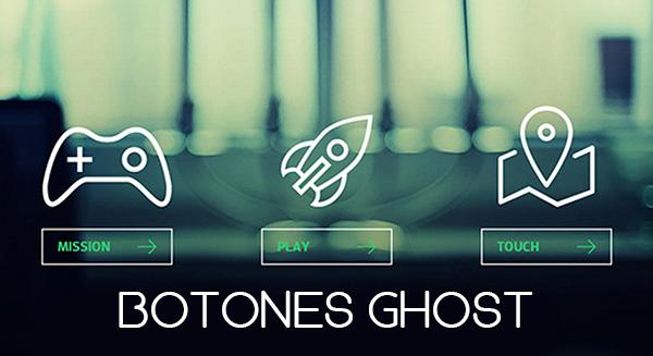 Botones de diseño ghost de Ahdis Creativos