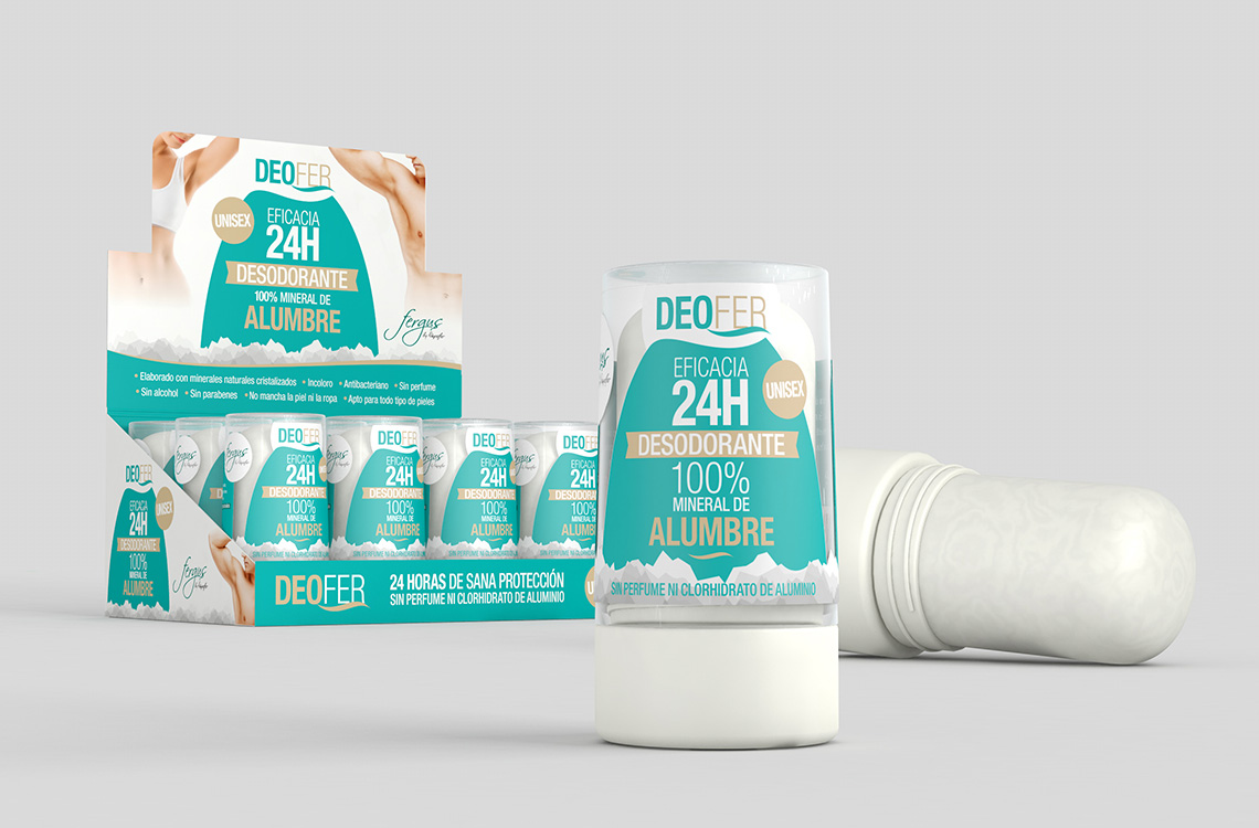 desodorante deofer mineral de alumbre
