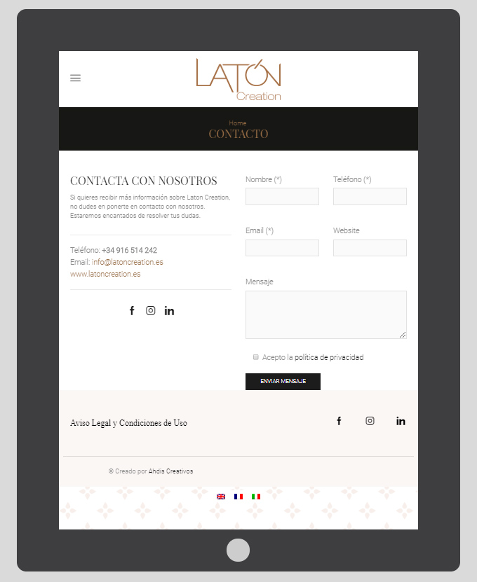plataforma web laton creation