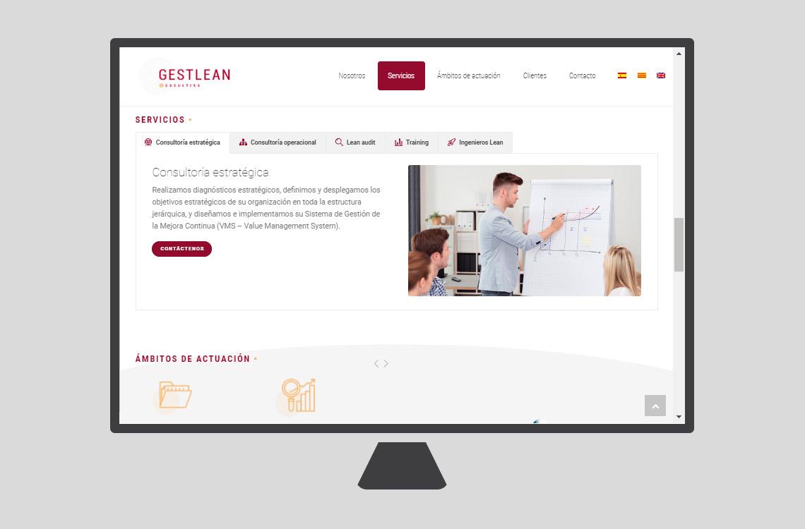 diseño web gestlean