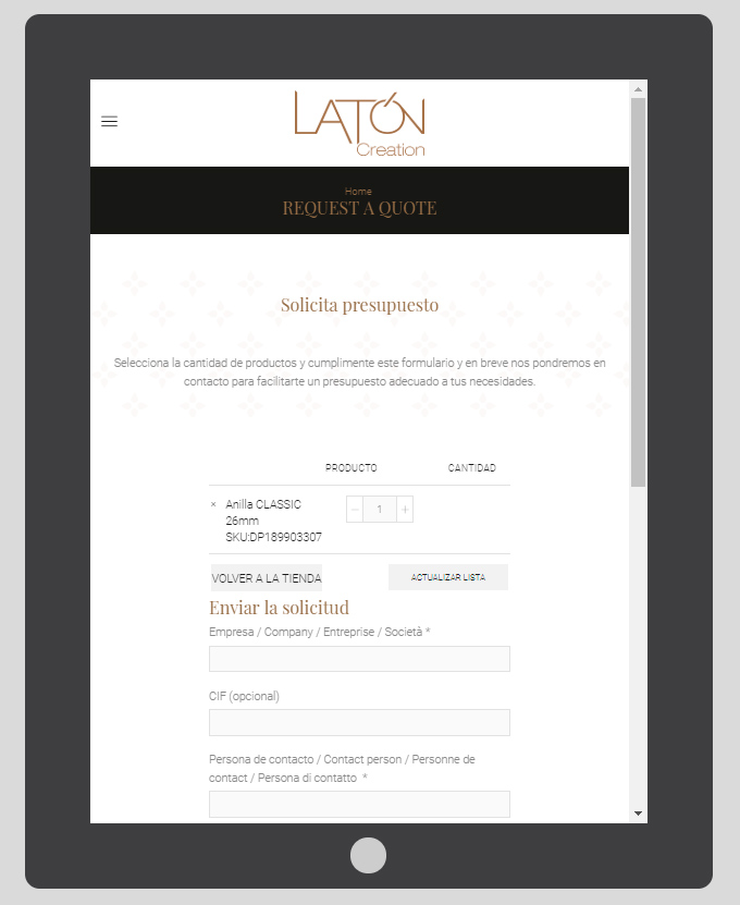 pagina web laton creation